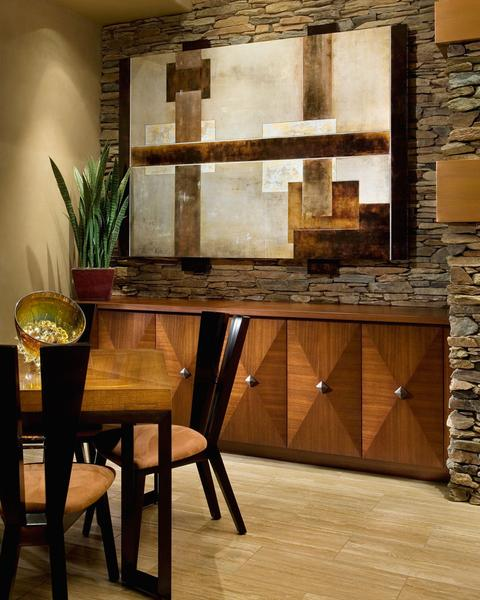 Shades of Rustic Brown In Desert Contemporary Residence