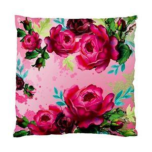 Vintage Dark Pink Peonies AND Leaves ON Pink Background Cushion Cover | eBay