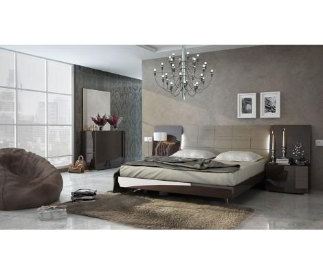 Modern Bedroom Set Barcelona in Lacquer Finish by ESF Furniture, Made in Spain | FurnitureGalleryNYC