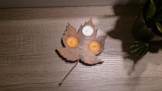 Leaf Tea light holder