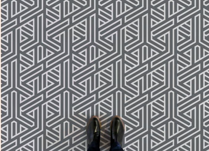 Angle - Abstract Line Pattern Flooring