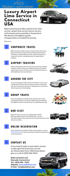 Luxury Airport Limo Service in Connecticut USA