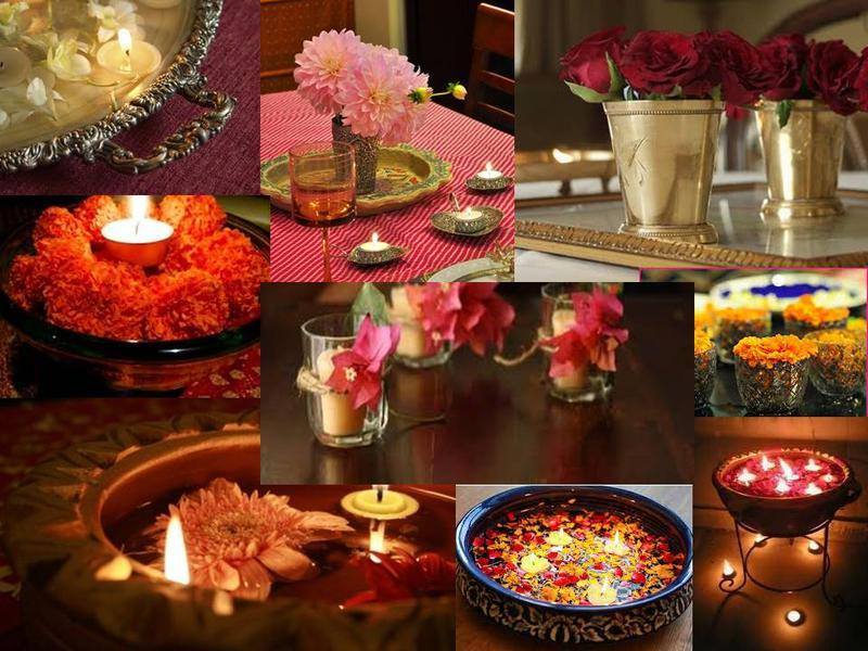 Go blingy this diwali diwali decoration ideas for Indoor diwali decoration