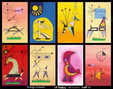Strange Animals (Painting On Canvas)