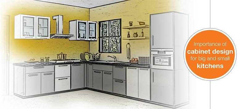 Significance of Kitchen Cabinet Design for Big and Small Kitchens