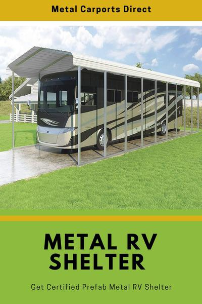 Get Certified Prefab Metal RV Shelter