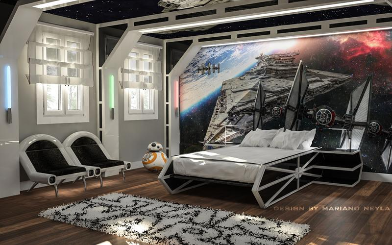 Perfect Kids Bedroom Design Inspired By Movie Star Wars