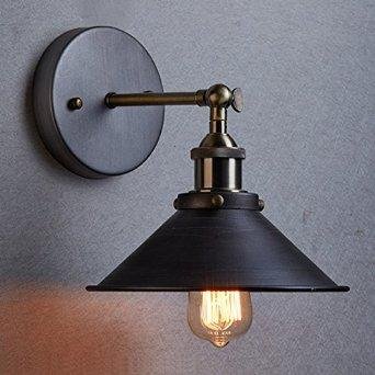 Ecopower Industrial Edison Simplicity 1 Light Wall Lamp Aged Steel Finished