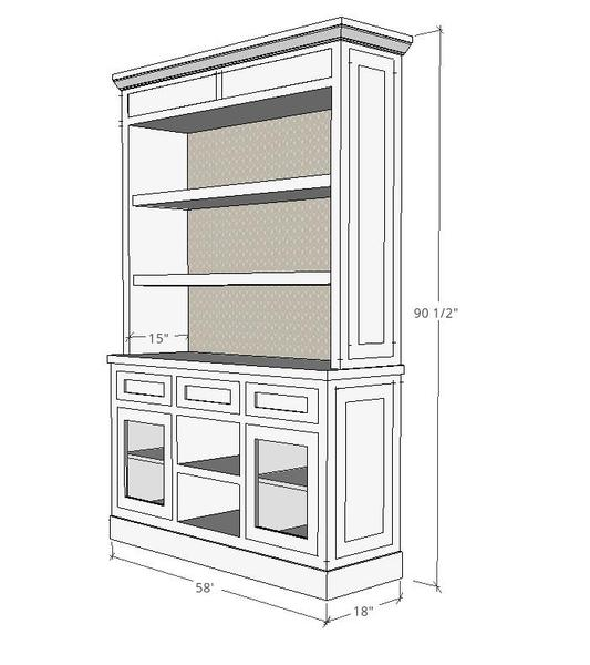 Millwork Shop Drawings for Custom Wooden Cabinet