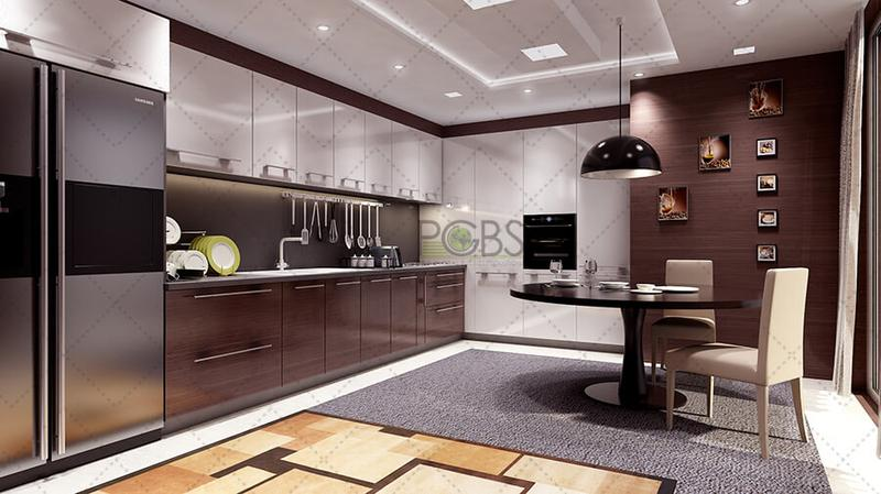 3d kitchen rendering