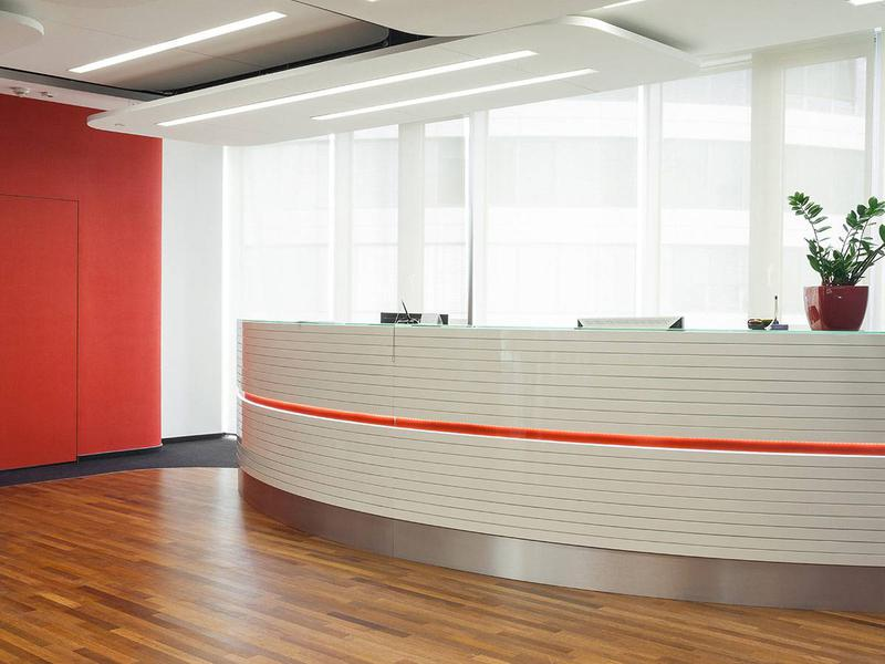 Reception counter round