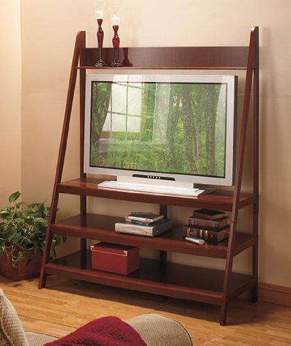 Ladder LED TV Stand - Walnut