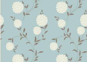 White Flower - Floral Graphic Vinyl Flooring