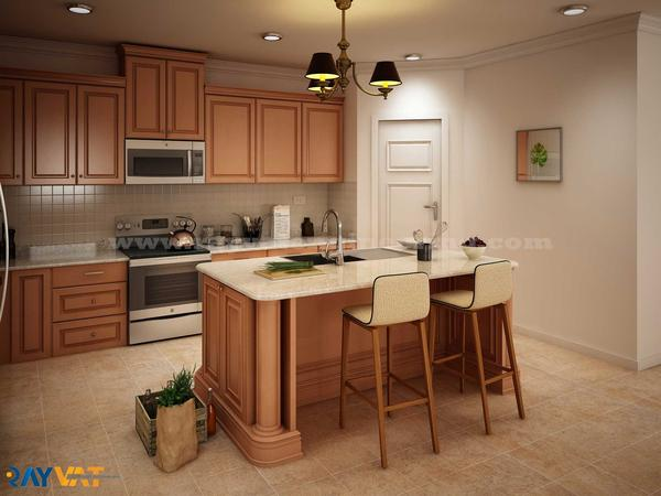 Kitchen 3D Interior Rendering Services by Rayvat Engineering