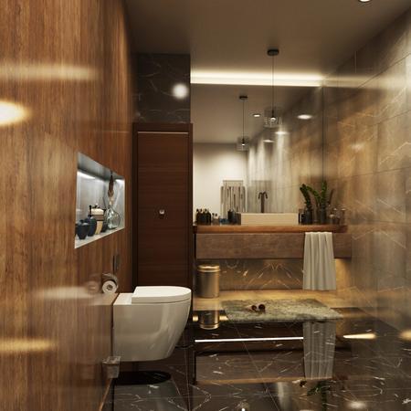 Bathroom 3D Rendering Los Angeles, California