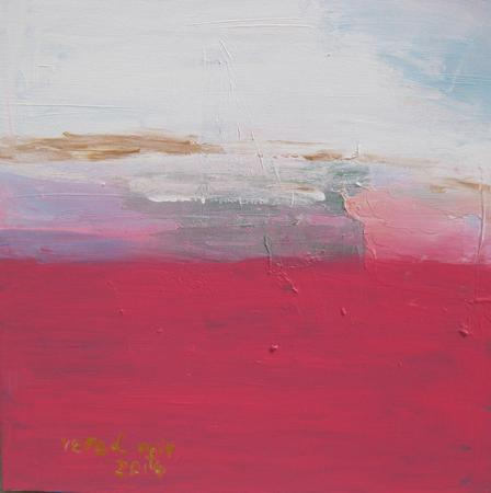 Abstract Pink Acrylic on canvas 50X50cm