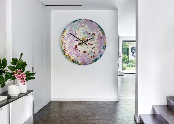 Do you need some thing unique for that space ? Custom Made Extra Large Glass Clocks with Lighting - Handmade by me, for you.