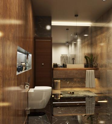 Bathroom 3D Rendering Los Angeles, California