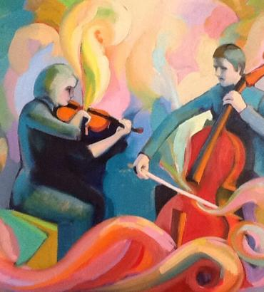 Music Art Viola & Violin
