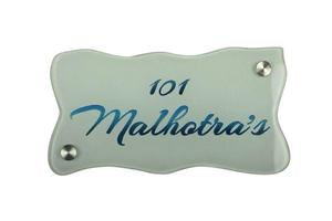 Glass Door Name Plate - Custom Name Plate