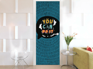 THE VIBRANT LIVING ROOM DOOR MURALS OR SKINS