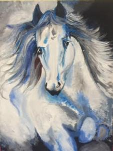 The Horse - Acrylic Painting on the canvas