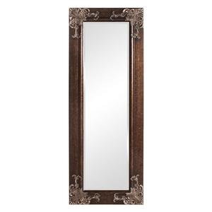 Full Length 63-in Wall Mirror with Quality Wood Frame and Antique Silver Gold