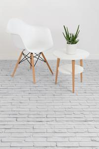 Vanille - White Brick Effect Vinyl Flooring