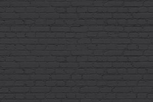 Coal - Black Brick Effect Vinyl Flooring