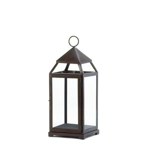 Large Dark Bronze Contemporary Lantern