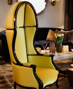 NAMIB | THE ARMCHAIR - YELLOW SATIN SILK