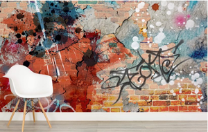 Grunge Graffiti Mural Wallpaper