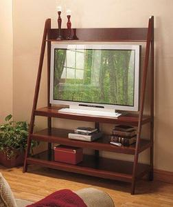 Ladder LED TV Stand - Walnut