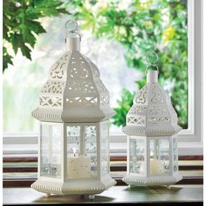 Large White Moroccan Lantern