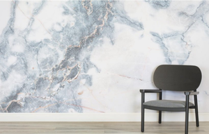 Deep Blue Clouded Marble Wall Mural