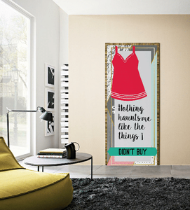 SHOPAHOLIC AND STYLISH GIRLS BEDROOM DOOR MURALS OR SKINS