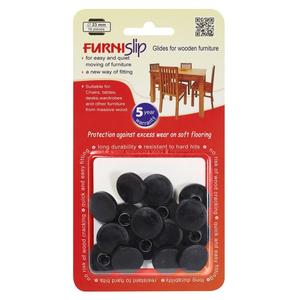 "Furniture Glides & Floor Protectors FurniSlip Soft Ø 0.90"" (23 mm) - 16 pcs."