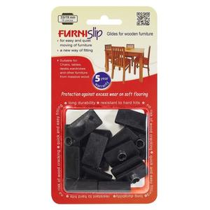 """Furniture Glides & Floor Protectors FurniSlip Soft 1.30"""" X 0.75"""" (33 X 19 mm) -"""