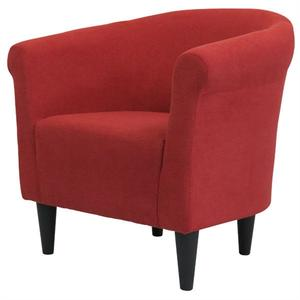 Contemporary Classic Red Upholstered Accent Arm Chair Club Chair