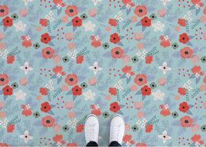 Summer - Floral Pattern Vinyl Flooring