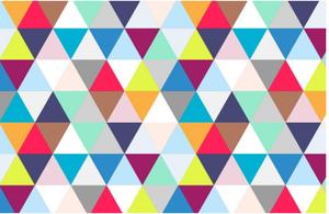 Multicoloured Triangles Geometric Wallpaper