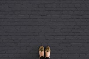 Coal - Black Brick Effect Vinyl Flooring