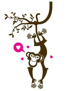 Monkey Kids Wall Decal