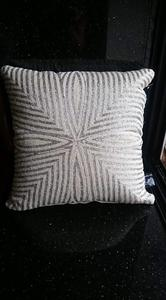 Leaf Pattern Beaded Cushion Cover