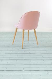 Mint - Pastel Brick Effect Vinyl Flooring