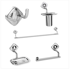 5 PIECES SET BATHROOM ACCESSORIES - CHROME PLATED - SISKO DESIRE