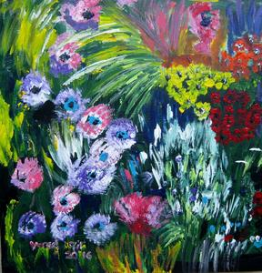 Spring flower acrylic on canvas 60x60