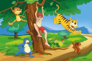 Jungle Fun Kids Room Wallpaper
