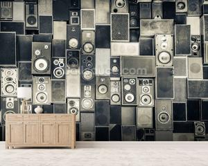 Music Speakers Wall Monochrome