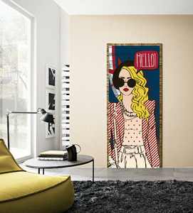 STYLISH GIRLS BEDROOM DOOR MURALS OR SKINS